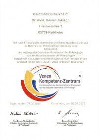 Zertifizierung Venenkompetenz Zentrum